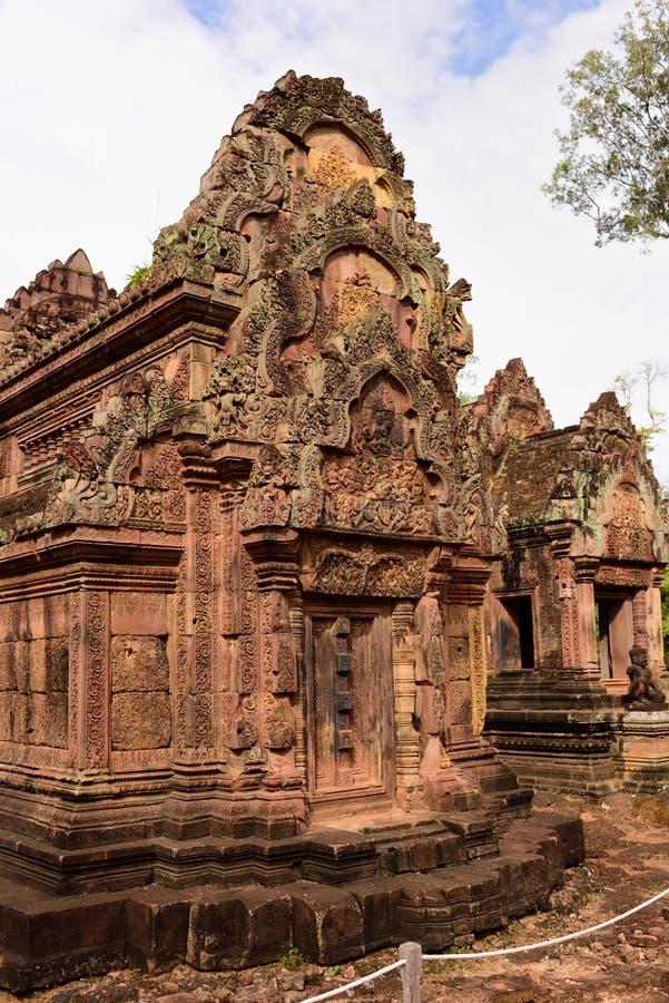 Tempio di pietra della scultura fotografia stock