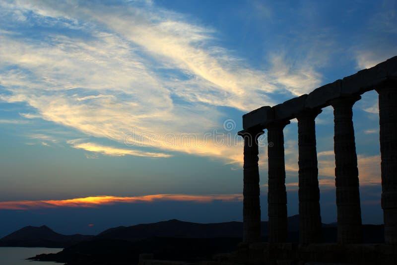 Tempio di Poseidon immagine stock