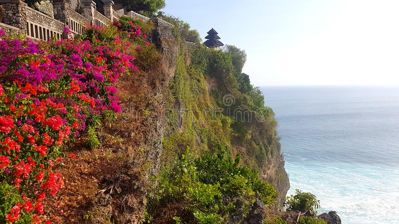 Tempio di Pura Luhur Uluwatu, Bali fotografia stock