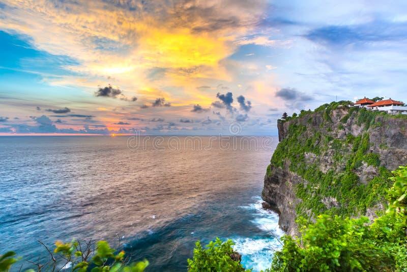 Tempio di Pura Uluwatu, Bali, Indonesia fotografia stock