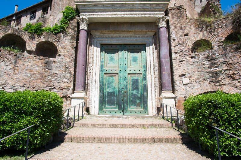 Tempio di Romolo immagine stock
