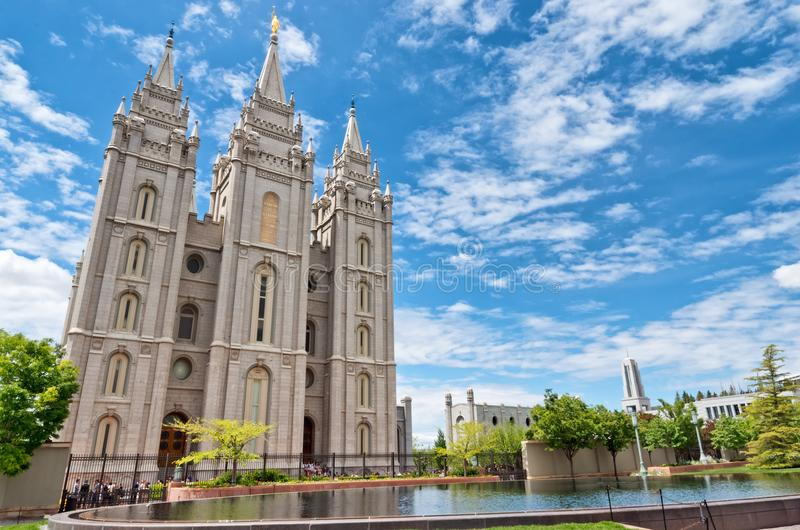 Tempio di Salt Lake a Salt Lake City, Utah, U.S.A. fotografia stock