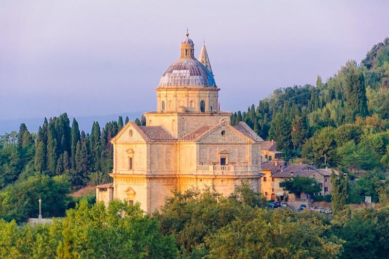 Tempio di San Biagio - Montepulciano. The renaissance Church of San Biagio under the walls of Montepulciano - Tuscany, Italy stock image