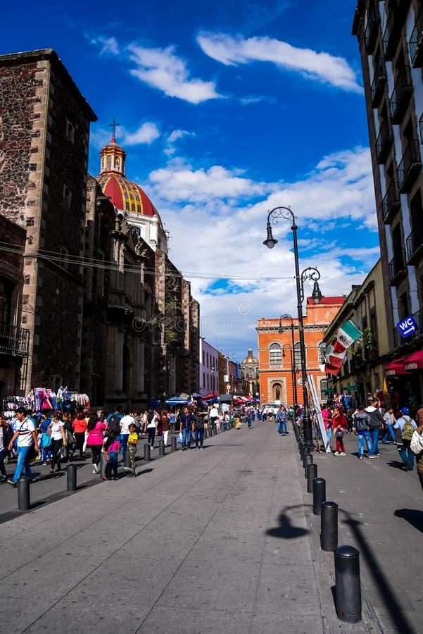 Tempio di Sant'Agnese, Città del Messico fotografie stock