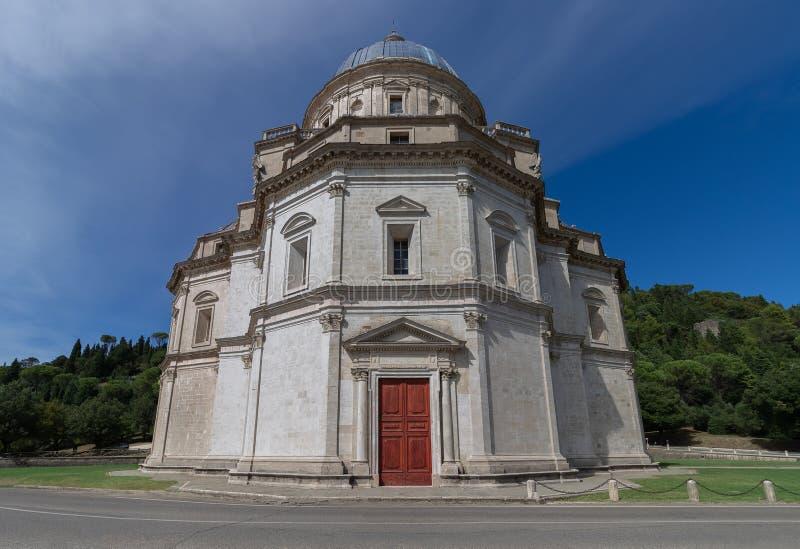Tempio Di Santa Maria della Consolazione w Todi, Umbria, Ja obrazy royalty free