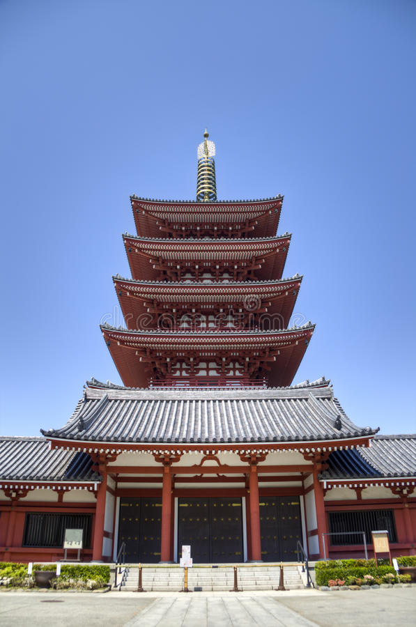 Tempio di Senso-ji in Asakusa, Tokyo, Giappone immagini stock libere da diritti