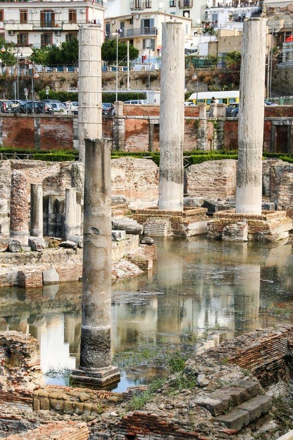 Tempio di Serapide, Pozzuoli, Napoli fotografia de stock