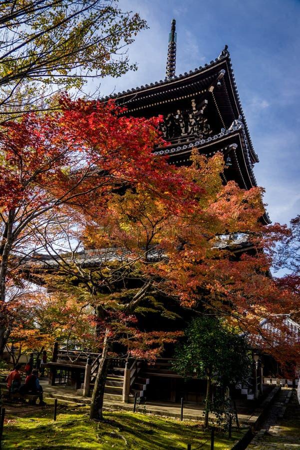 Tempio di Shinnyodo in autunno a Kyoto fotografie stock