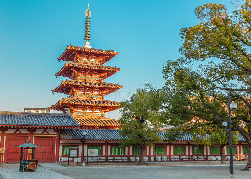 Tempio di Shitennoji a Osaka fotografia stock