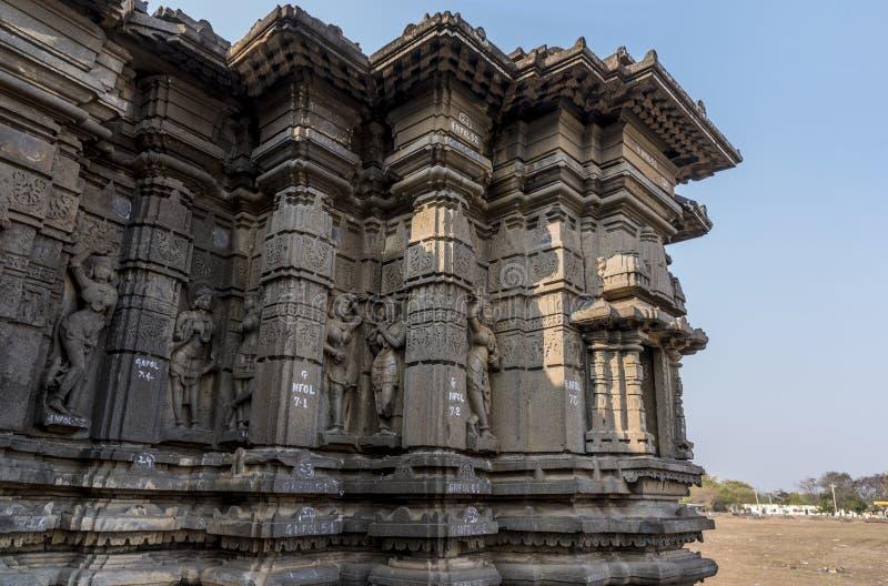 Tempio di shiva di Hemadpanti, Hottal, maharashtra fotografia stock libera da diritti
