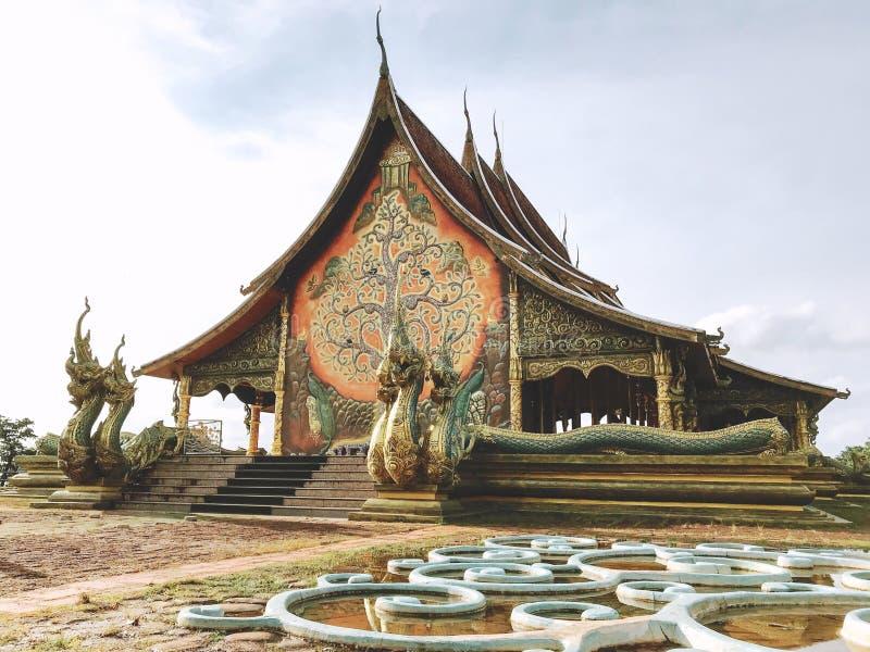 Tempio di Sirindhorn Wararam Pupao immagine stock
