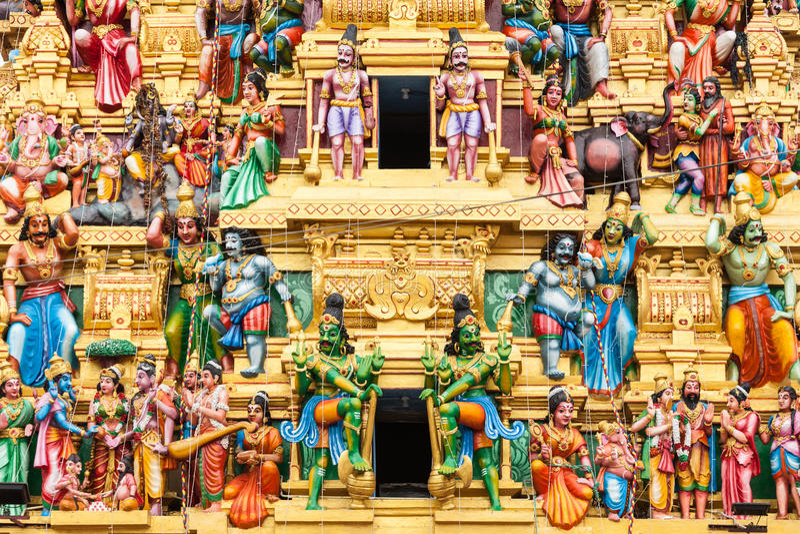 Tempio di Sri Kaileswaram, Colombo immagine stock libera da diritti