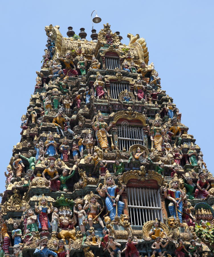 Tempio di Sri Kali. Rangoon. Myanmar. fotografia stock
