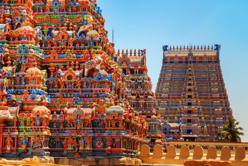 Tempio di Sri Ranganathaswamy in Trichy fotografia stock libera da diritti