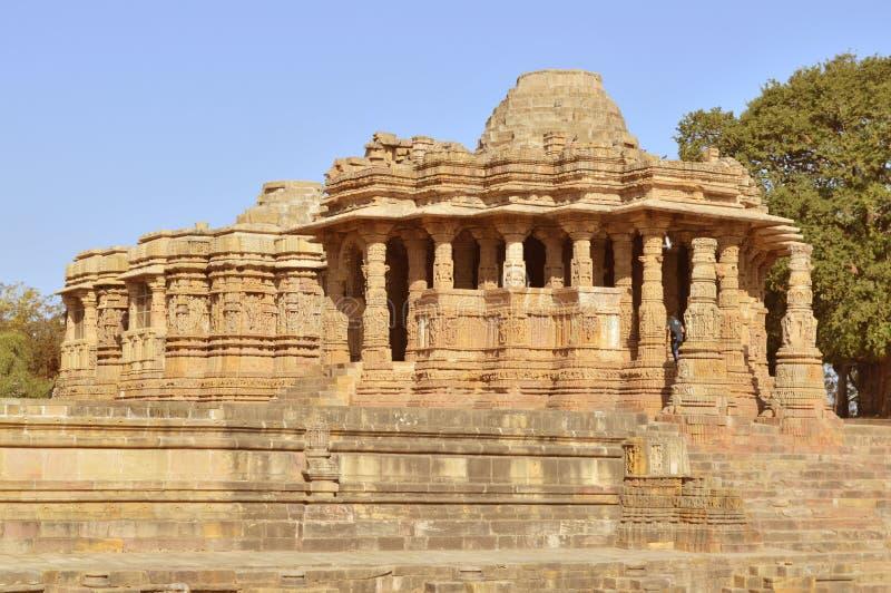 Tempio di Sun di Modhera, Gujarat fotografia stock