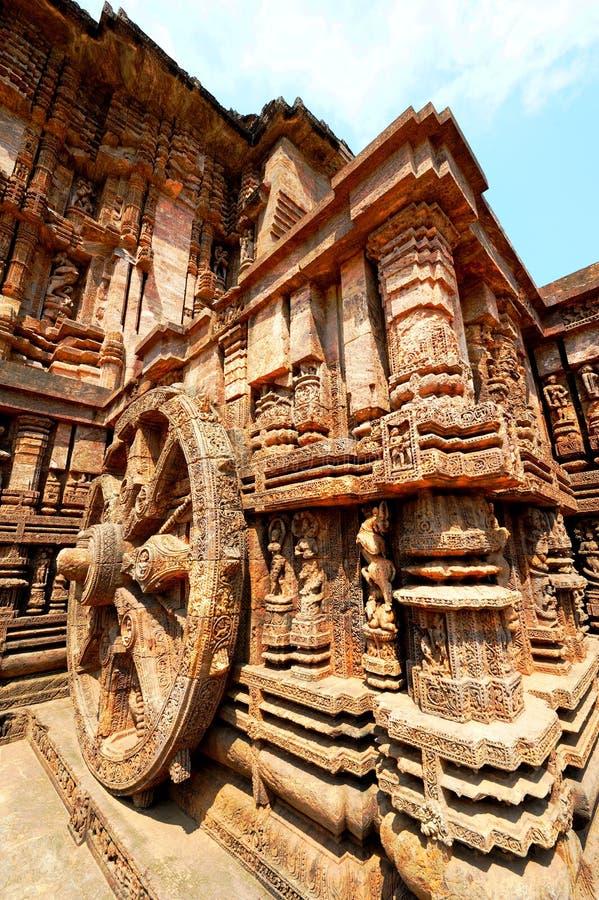 Tempio di Sun vicino a Puri, India fotografia stock libera da diritti
