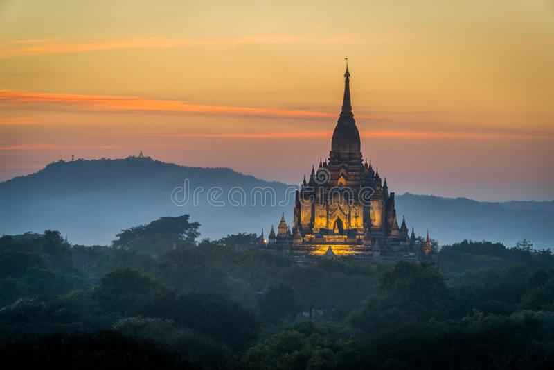 Tempio di Thatbyinnyu fotografie stock libere da diritti