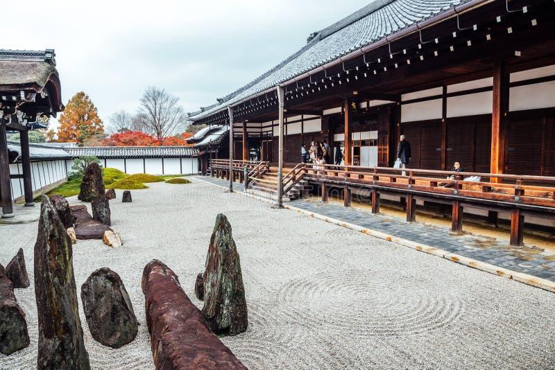 Tempio di Tofukuji, vecchia architettura giapponese e paesaggio del giardino a Kyoto, Giappone immagine stock