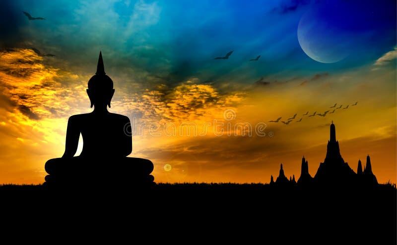 Tempio di tramonto immagini stock