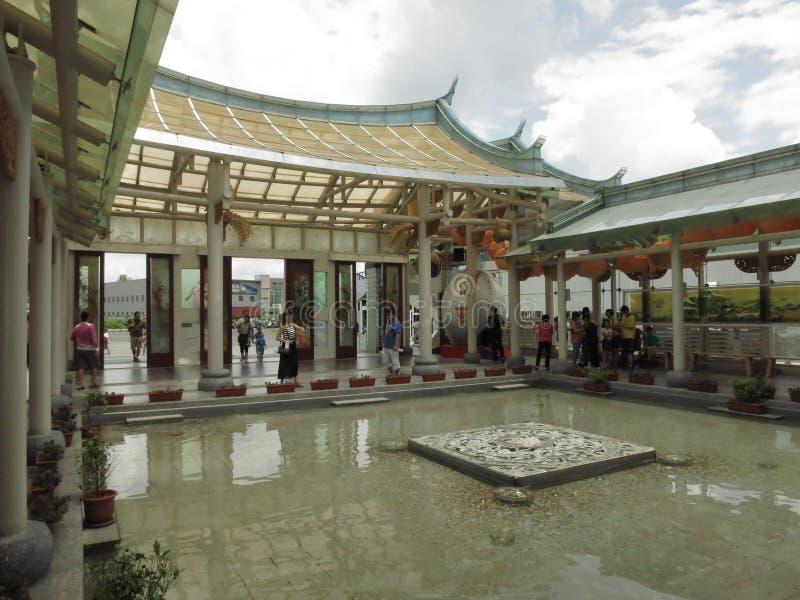 Tempio di vetro di Taiwan Lukang fotografia stock libera da diritti