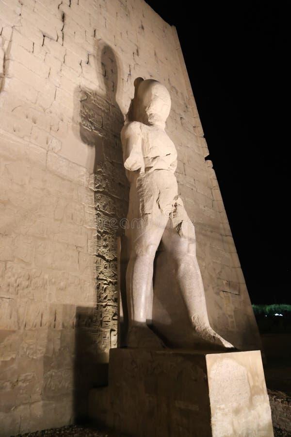 Tempio di vista di notte di Luxor - l'Egitto immagini stock