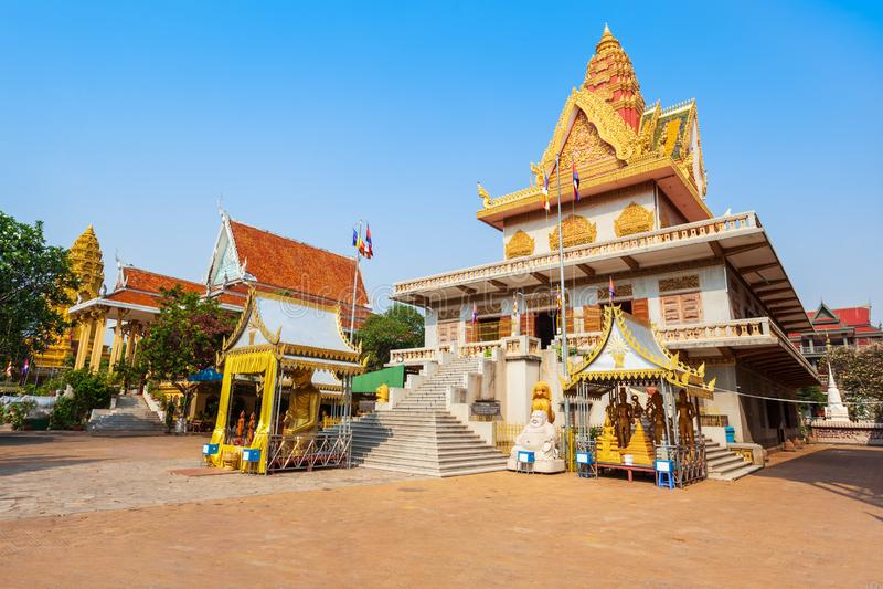 Tempio di Wat Ounalom, Phnom Penh fotografie stock
