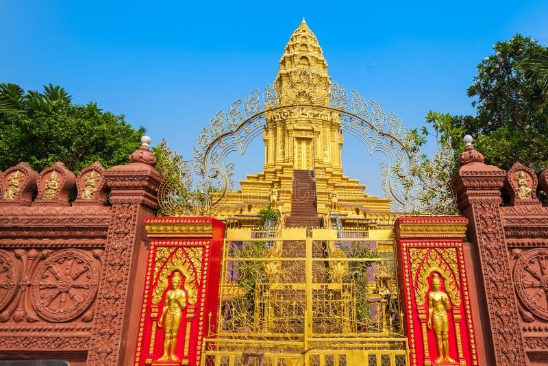 Tempio di Wat Ounalom, Phnom Penh immagine stock libera da diritti
