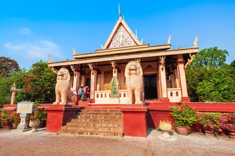 Tempio di Wat Phnom, Phnom Penh immagine stock