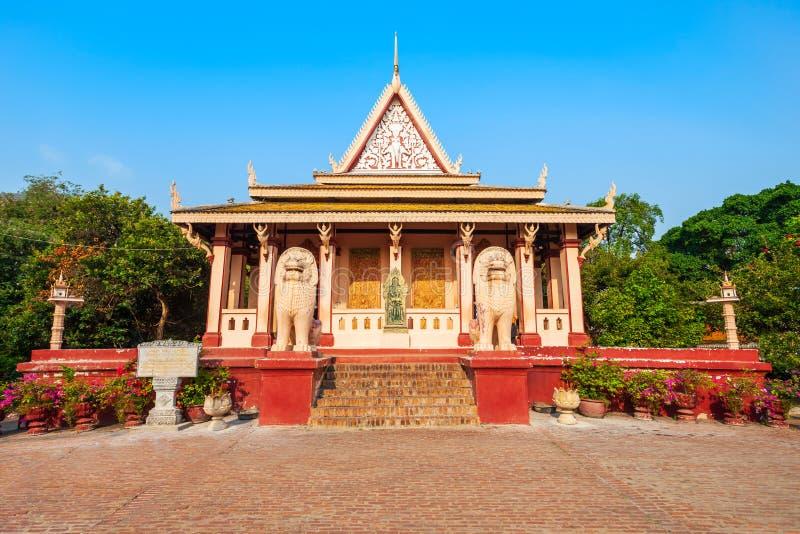 Tempio di Wat Phnom, Phnom Penh fotografia stock