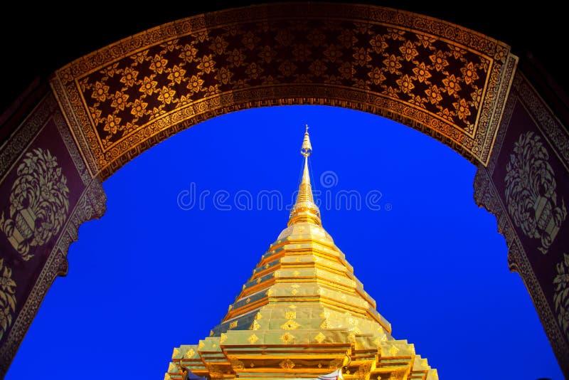 Tempio di Wat Phra That Doi Suthep immagine stock
