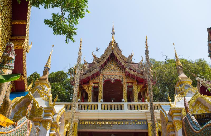 Tempio di Wat Phra That Doi Suthep, Chiang Mai, Tailandia fotografie stock libere da diritti