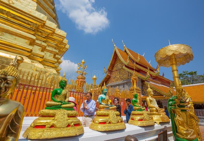 Tempio di Wat Phra That Doi Suthep, Chiang Mai, Tailandia fotografie stock
