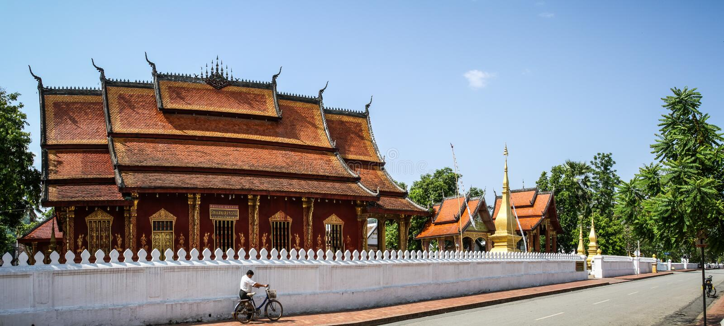 Tempio di Wat Saen, Luang Prabang, provincia di Luang Prabang, Laos, immagini stock libere da diritti