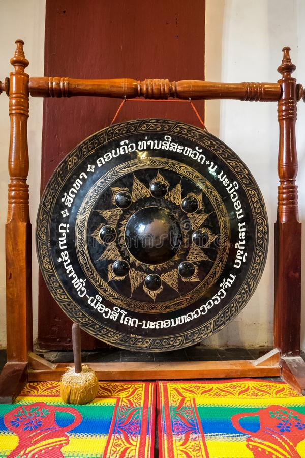 Tempio di Wat Visounnarath in Luang Prabang, Laos fotografia stock libera da diritti