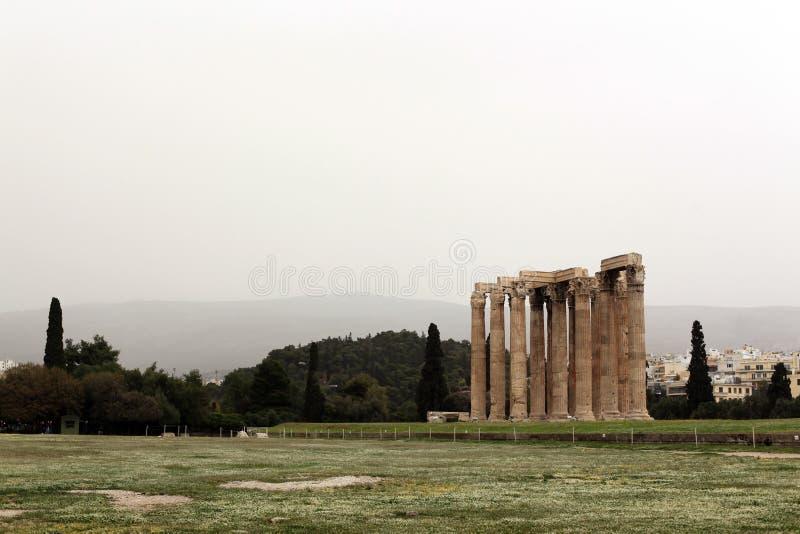 Tempio di Zeus fotografia stock libera da diritti