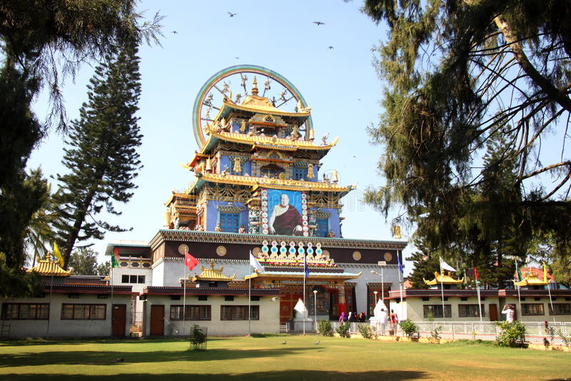 Tempio dorato Coorg fotografia stock