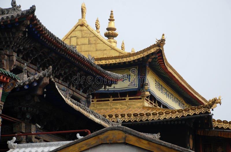 Tempio dorato del mattone immagine stock libera da diritti