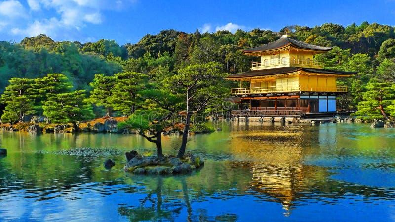 Tempio dorato di zen del Giappone immagini stock libere da diritti