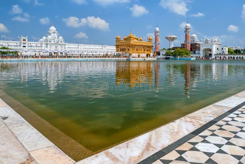Tempio dorato Harmandir Sahib, Amritsar, Punjab, India fotografia stock libera da diritti