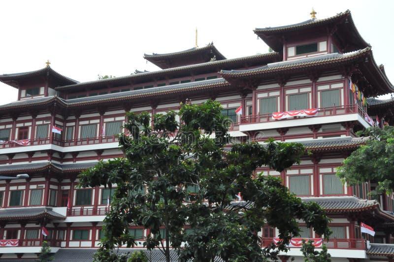 Tempio e museo della reliquia del dente di Buddha a Singapore fotografie stock