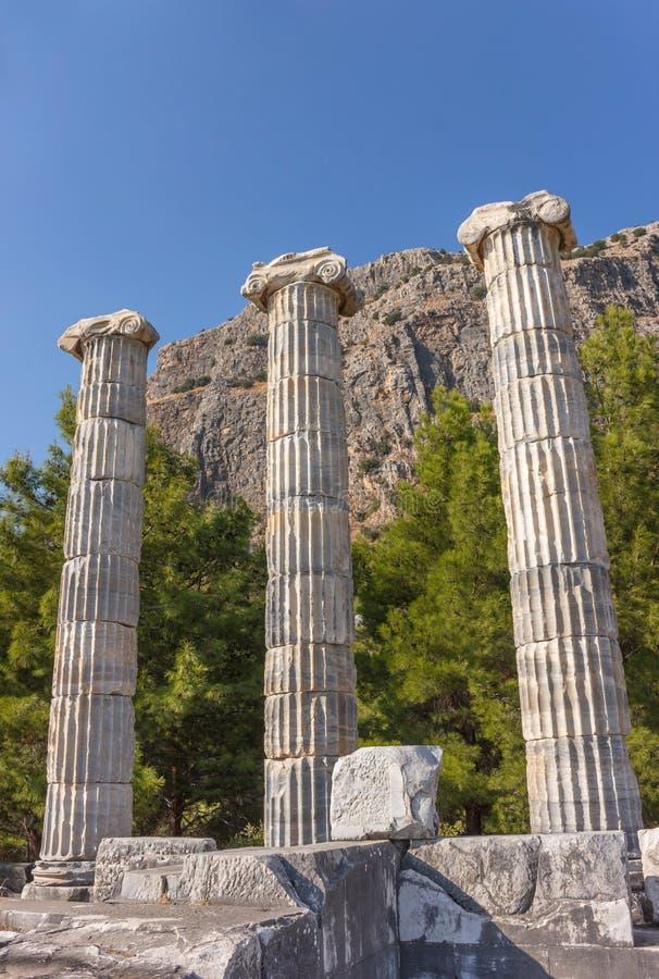 Tempio e santuario di Atena immagine stock libera da diritti