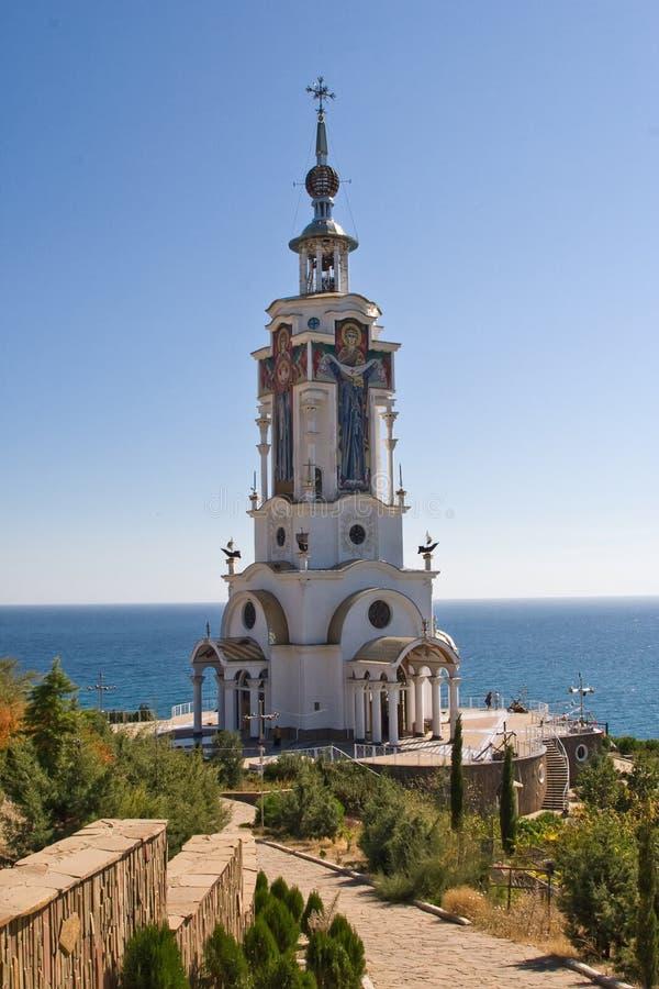 Tempio-faro di San Nicola il Wonderworker Malorechensk immagine stock