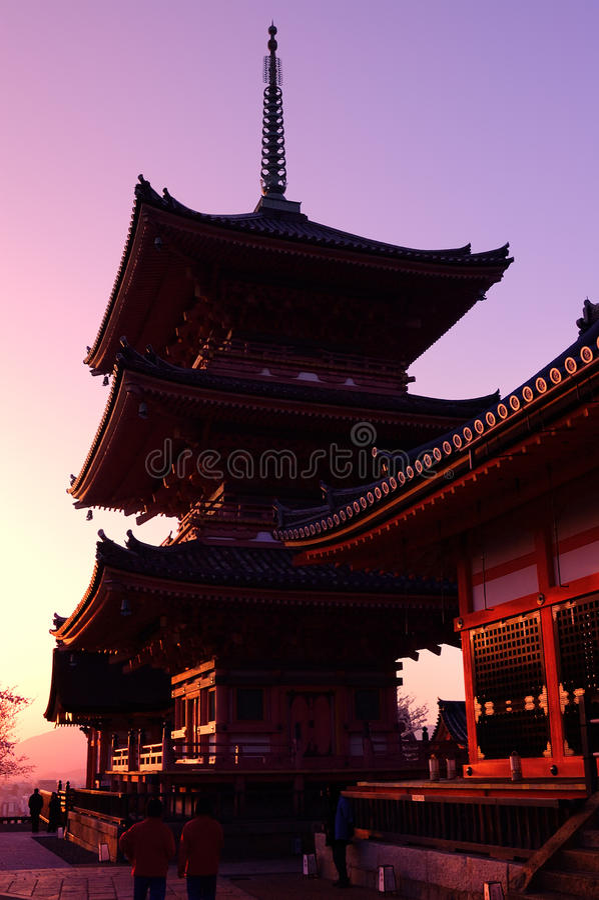 Tempio giapponese (Kiyomizu-dera) immagini stock libere da diritti
