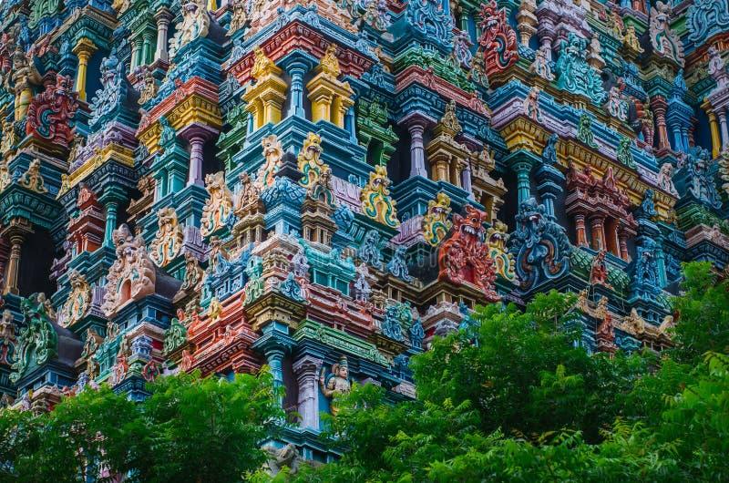 Tempio indù di Meenakshi a Madura, immagine stock libera da diritti