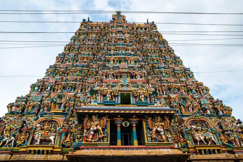 Tempio indù di Meenakshi a Madura, immagini stock libere da diritti