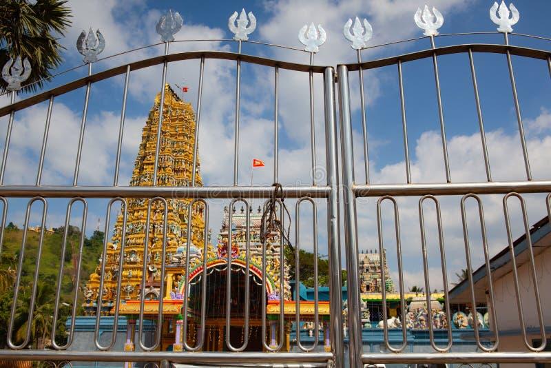 Tempio indù di Muthumariamman in Matale, Sri Lanka fotografie stock