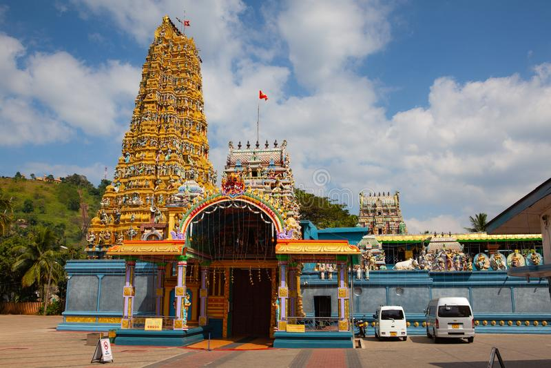 Tempio indù di Muthumariamman in Matale, Sri Lanka immagine stock