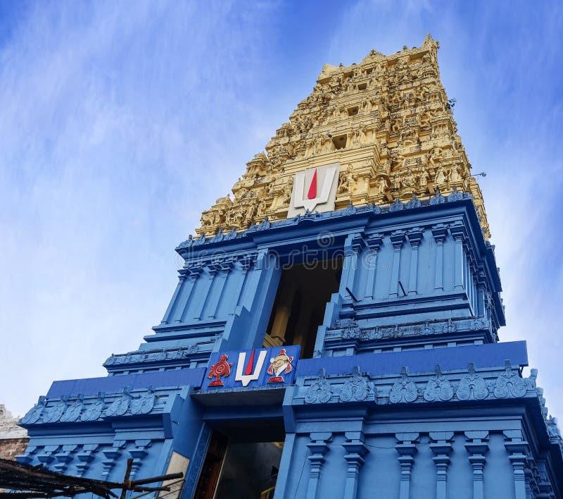 Tempio indù di Simhachalam situato nel sobborgo della città di Visakhapatnam, I immagini stock libere da diritti