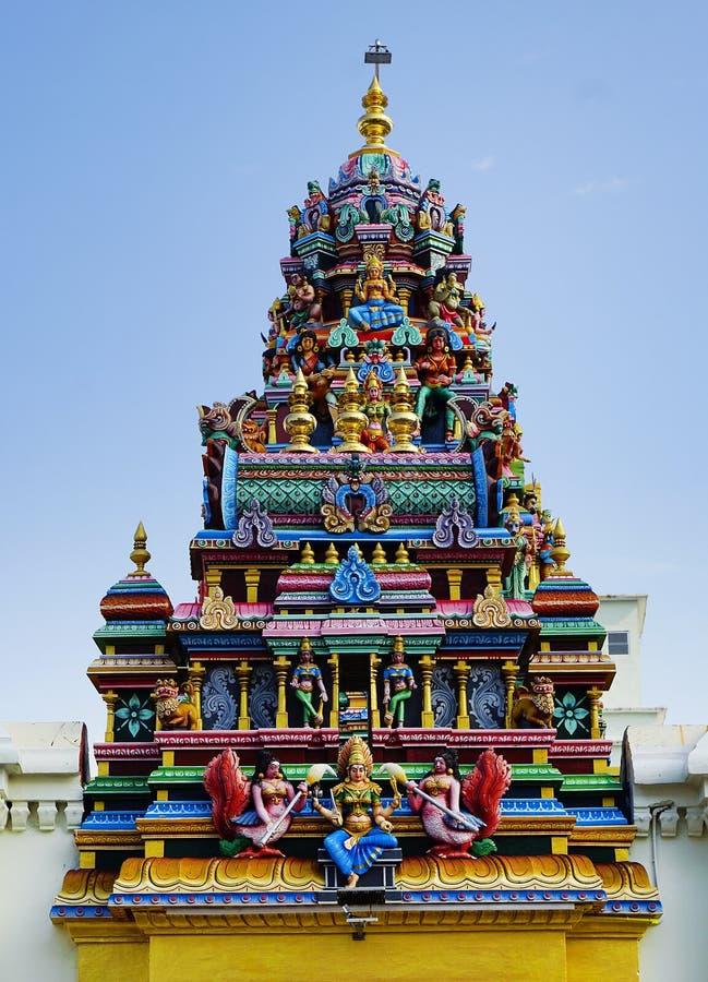 Tempio indù a Georgetown, isola di Pinang, Malesia fotografia stock libera da diritti