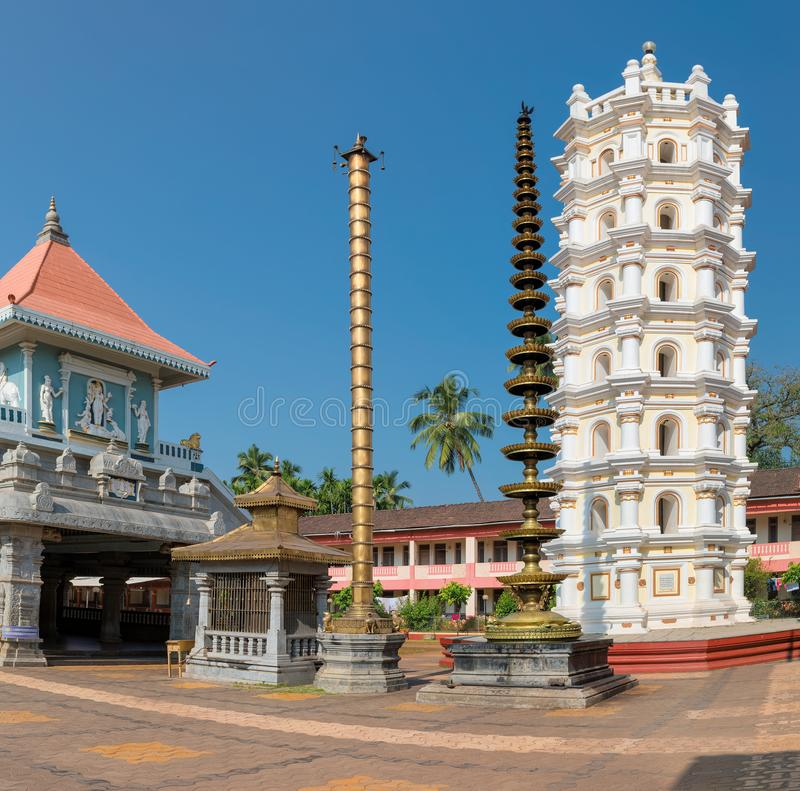 Tempio indù indiano in Ponda, GOA, India immagine stock libera da diritti